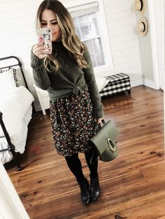 13 ways to style a floral dress. (Corilynn). Tights Outfit WinterBlack ... b84a77d9c