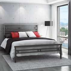 amisco orson orson bed metallic bed trendy metallic bed 12316 decor bedroom beauty room amisco 190 amisco amisco beds amisco newton regular footboard bed queen