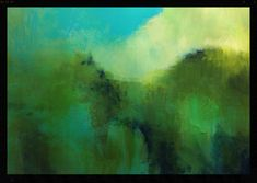 """Return to the Grove""; abstract landscape painting by Fritz Jooste; acrylic on paper;"