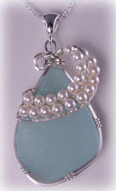 Curly Pearly – Custom Sea Glass Pendant