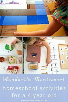 Hands - On Montessori Homeschool Activities For A 4 Year Old - Montessori Nature Blog