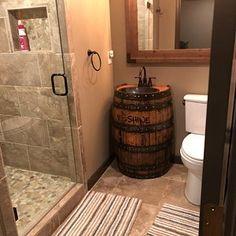SOLD Jack Daniels home bar custom hand built rustic whiskey, pub, man cave portable Jim Beam, Jack Daniels, Whiskey Barrel Sink, Bourbon Barrel, Wild Turkey Bourbon, Rustic Bathroom Vanities, Wood Bathroom, Bathroom Sinks, Bathroom Remodeling