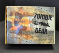 Zombie Survival Gear.  Custom Corrugated Boxes designed on ThePaperWorker.com - with low to NO minimum quantity! http://www.thepaperworker.com/custom-boxes-corrugated