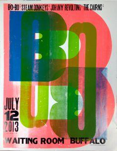 Bobo Gig Poster - Letterpress Poster