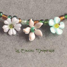 Girocollo verde con fiorellini vintage - C.52.2015, by Le coucou magnifique, 16,00 € su misshobby.com