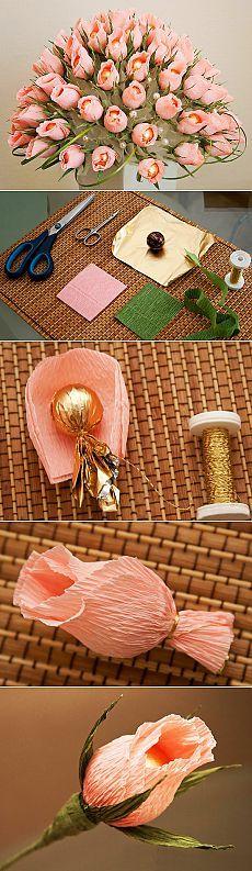 Шоколадно-цветочный букет | СДЕЛАЙ САМ!