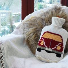 Hot Water Bottle - Beetle Front Yellow Window and lights