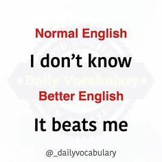 Slang English, English Idioms, English Phrases, English Lessons, English Language, English Conversation Learning, English Learning Spoken, Teaching English Grammar, Interesting English Words
