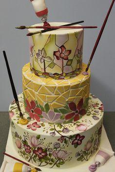 Artist Cake by Alliance Bakery, via Flickr