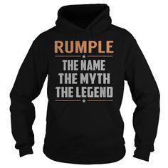 Cool RUMPLE The Myth, Legend - Last Name, Surname T-Shirt Shirts & Tees