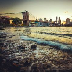 """Julie: """"I absolutely love this picture of Brooklyn Bridge by @jaszekphoto. I wish I could see this in real life."""""""