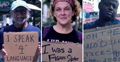 Homeless people each share one thing about themselves that will surprise you