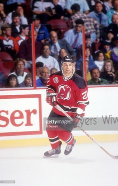 Scott Niedermayer #27 of the New Jersey Devils skates on the ice during an NHL game against the Philadelphia Flyers circa 1993 at the Spectrum in Philadelphia, Pennsylvania.