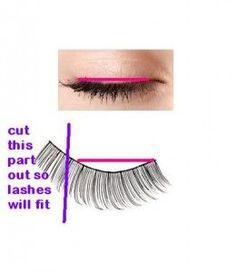 False lashes for beginners. - Makeup Tips False Eyelashes Tips, How To Draw Eyelashes, Applying False Lashes, Fake Eyelashes, Long Lashes, Makeup Tips, Beauty Makeup, Makeup Ideas, Makeup Hacks