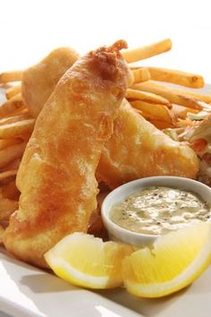 Fish and Chips | AmazingSeafoodRecipes  #fishandchips As you can see from the picture, the fish and chips batter is really crispy, giving the fish a truly mouthwatering look. The chips can be thick or thin-cut but they should be an attractive shade of golden brown. When the chips reach this color they are ready.