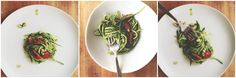"""""""Attack of the Squash People"""" by Marge Piercy (Part 1) + Raw Zucchini Pasta with Basil-SpinachPesto - A literary food blog. - Eat This Poem"""