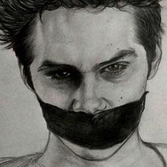 teen wolf, drawing, and dylan o'brien image