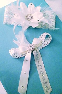 Tee hee! I made my own garters for our wedding next Saturday! Who will be the lucky guy to catch my toss garter??? ;) #DIY  #BRIDE #WEDDING #GARTERS