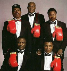Ken Norton, George Foreman, Larry Holmes, Smokin Joe Frazier and The Greatest of All-Time Muhammad, Ali- Legends and Monsters of Boxing. Larry Holmes, Mohamed Ali, Kick Boxing, Ken Norton, Combat Boxe, Boxing Posters, Sports Posters, Professional Boxing, Sport