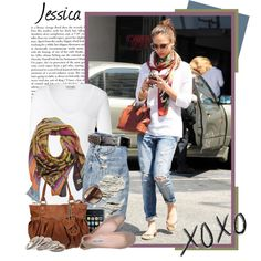 Jessica Alba. Like this casual style.