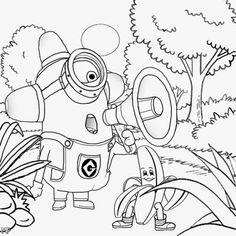 despicable me coloring pages minions little minions pinterest