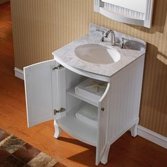 Virtu USA Khaleesi 24-inch White Bathroom Cabinet