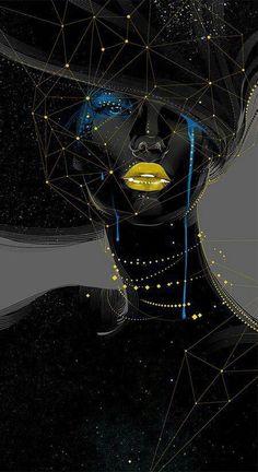 Digital Art Woman in Black art abstract black painting woman digital African American Art, African Art, Glenn Arthur, Wow Art, Black Women Art, Art Women, Caricatures, Black Is Beautiful, Beautiful Artwork