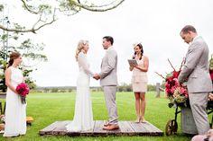 Great idea for wedding podium (love that wood).   Australia Wedding from Karen Buckle Photography  Read more - http://www.stylemepretty.com/2013/06/04/australia-wedding-from-karen-buckle-photography/