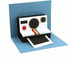 Silhouette Online Store - View Design #61512: instant camera pop up card