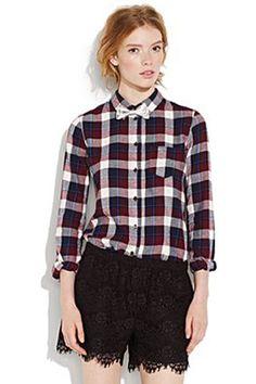 Madewell Foxtail Shrunken Flannel Boyshirt, $69.50, available at Madewell,