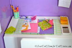 American Girl desk/school set