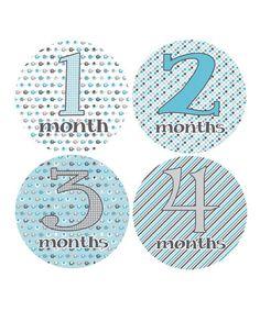 Look at this #zulilyfind! Marching Elephants Monthly Growth Stickers #zulilyfinds