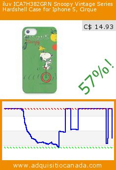 iluv ICA7H382GRN Snoopy Vintage Series Hardshell Case for Iphone 5, Cirque (Wireless Phone Accessory). Drop 57%! Current price C$ 14.93, the previous price was C$ 34.99. http://www.adquisitiocanada.com/iluv/iluv-ica7h382grn-snoopy