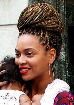 Beyonce's braid bun