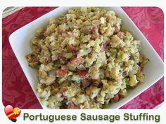 sausage portuguese recipes portuguese food sausage stuffing stuffing ...