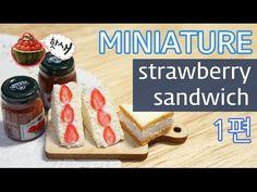 how to: miniature strawberry sandwich
