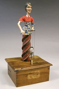 """Adroit, 2010, automata, handmade electronic moving sculpture with found materials, 18"""" x 9"""" x 8"""" (THAN117)"""