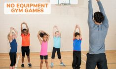 18 Fun PE Games Needing No Equipment – Kid Activities - Pin Hairs Gym Games For Kids, Physical Activities For Kids, Physical Education Lessons, Pe Activities, Kids Gym, Activity Games, Health Education, Movement Activities, Character Education