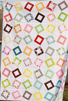 free pattern link--also the hand quilting shown up the page is a great idea to highlight the blocks