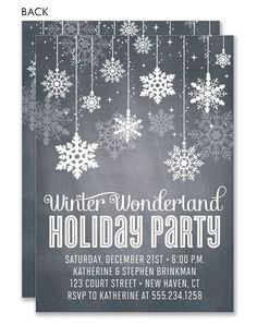 Winter Wonderland Charcoal Invitation