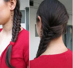 Final Look: Secure it with a rubber band.This is the final look.@ http://www.stylecraze.com/articles/side-swept-fish-braid-tutorial-with-pictures/