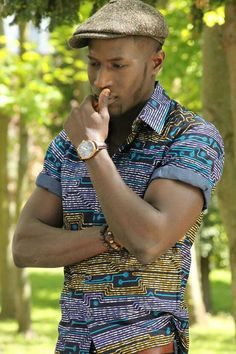 Moving into men's shirts? African Attire For Men, African Wear, African Dress, African Style, African Inspired Fashion, African Print Fashion, Africa Fashion, Ankara Fashion, Men's Fashion