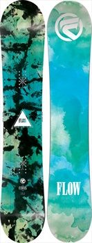 Flow CANVAS ABT Women's Reverse Camber Snowboard, 148cm, Blue, 2015