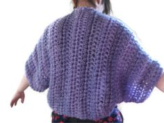 Crocheted Shrug, Wrap or Jacket in Soft purples. Cardigan, Ladies Accessories, Women. Party season, Wedding. Gift.