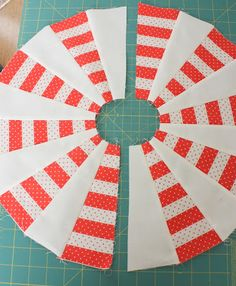 'Peppermint Pinwheel' Dresden block tutorial - shirt off his back, using dad's old ties