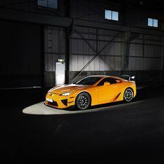 Hot shot of a Lexus LFA