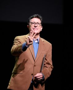 Stephen Colbert performs at the Post-Election Evening to Benefit Montclair Film Festival at NJ Performing Arts Center on November 19, 2016 in Newark, New Jersey. - A Post-Election Evening With Stephen Colbert & John Oliver to Benefit Montclair Film Festival