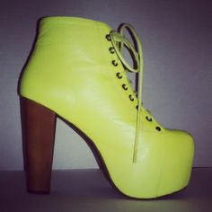 #JeffreyCampbell x #NastyGal #Lita in Neon Yellow from #NastyGal