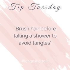 It's difficult combing through long wet hair!😬 Brush before showering; then comb your conditioner in before rinsing. and don't forget our Junior Gentle Detangler.💁🏻♀️ That stuff's a lifesaver‼️ Funny Hairstylist Quotes, Hairdresser Quotes, Body Shop At Home, The Body Shop, Hair Stylist Tips, Hair Salon Quotes, Hair Facts, Adventure Time, Monat Hair