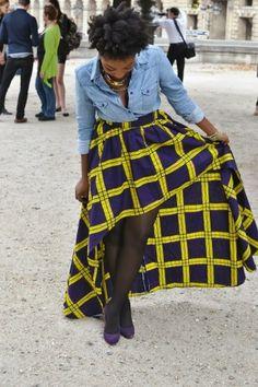 Rosa reveletoi.com Hi-low skirt by Mulema